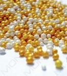 Cukrové perličky zlato-bílé