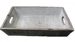 Aranžovací podnos dřevěný šedý - 30 cm
