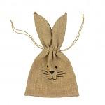 Dárkový lněný pytlíček s bavlněnou krajkou - 1ks