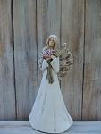 Anděl masiv stojící - kaly - 38cm