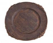 Aranžovací podložka bronzová - čtverec - 22 cm