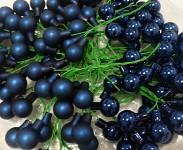 Baňky na drátku tm.modré 25mm - 1ks - lesklé