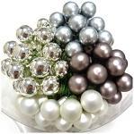 Baňky na drátku bílá perleť 20 mm - 1ks - matné