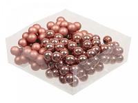 Baňky na drátku tm.červené vánoční  20mm - 1ks - lesklé