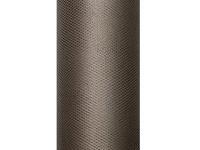 Tyl dekorační 15 cm/9m - hnědý