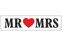 Svatební SPZ papírová - Mr. a Mrs.