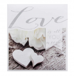 Svatební fotoalbum na fotolepky - Love