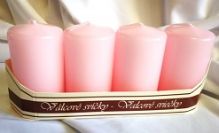Adventní svíce - sv.růžové malé