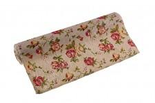 Textilní šerpa s růžemi - 28 cm/3 m