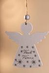 Anděl bílý Veselé Vánoce - závěs