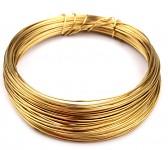 Měděný lesklý drátek - zlatý