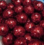 Kulička malá - tm.modrá glitter - 1 ks