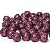 Kulička malá - starorůžová glitter - 1 ks