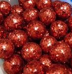 Kulička malá - červená glitter - 1 ks