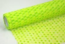 Vlizelín sv.zelený s puntíky
