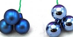 Baňky na drátku tm.modré 15 mm - 1ks - lesklé