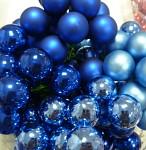Baňky na drátku tm.modré 20mm - 1ks - lesklé