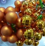 Baňky na drátku oranžové 20mm - 1ks - matné