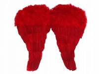 Andělská křídla - červená - 52x45 cm