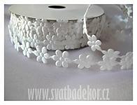 Květinky bílé 20mm  - 1m