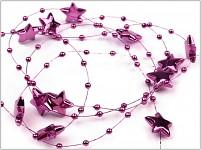 Hvězdičky na silikonu - fialové - 1 m