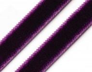Sametová stuha - tm.fialová - 1m
