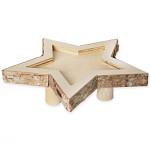 Hvězda juta zlatá velká plná - 30 cm