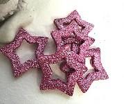 Hvězda dutá - sv.růžová glitter
