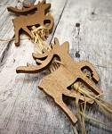 Dřevěný sob zlatý - zápich