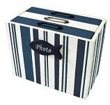 Dřevěná skříňka na foto - navy