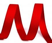 Dekorační stuha rypsová červená - 1 m