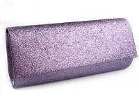 Společenská kabelka - fialově-šedá s lurexem