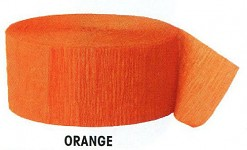 Krepová stuha - oranžová - 25 m