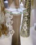 Lapač vosku skleněný s krystaly
