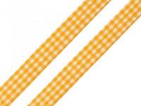 Stuha károvaná  12 mm - žlutá - 1 m
