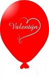 Balonky - Valentýn červený