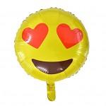 Foliový balónek - Smajlík LOVE