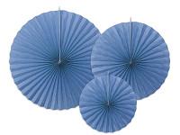 Rozety závěsné -  tm.modré - 3ks