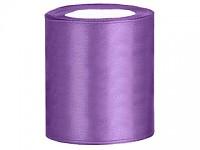 Stuha satén 100 mm - fialová - 1m