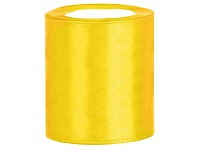 Stuha satén 100 mm - žlutá - 1m