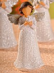 Anděl Beátka - holubička glitr