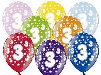 Narozeninové balonky - 3. narozeniny - 1 ks