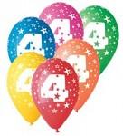 Narozeninové balonky - 4. narozeniny - 1 ks