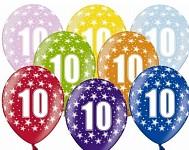 Narozeninové balonky - 10. narozeniny - 1 ks