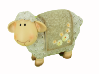 Ovečka polystone - hnědá velká