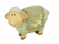 Ovečka polystone - hnědá malá