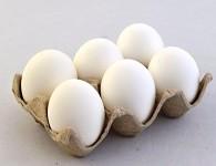 Vajíčka pravá bílá - 6 ks