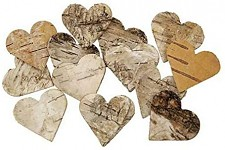 Srdíčka z březové kůry 3,5cm - 20ks