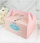 Krabička na výslužku - s ouškem - růžová puntík - ženich a nevěsta