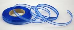 Šifonová stuha lemovaná - 25 mm - modrá -1m